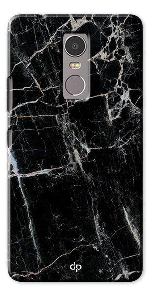 Digiprints Black Marble Design 2 Printed Designer Back Case Cover For Lenovo K6 Note
