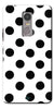 Digiprints Black Polka Dots Printed Back Case Cover For Lenovo K6 Note