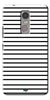 Digiprints Black Horizontal Strips Designer Printed Back Case Cover For Lenovo K6 Note
