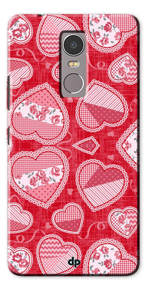 Digiprints Beautiful Pink Heart Design Printed Back Case Cover For Lenovo K6 Note
