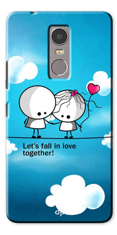Digiprints Let'S Fall In Love Together Back Case Cover For Lenovo K6 Note