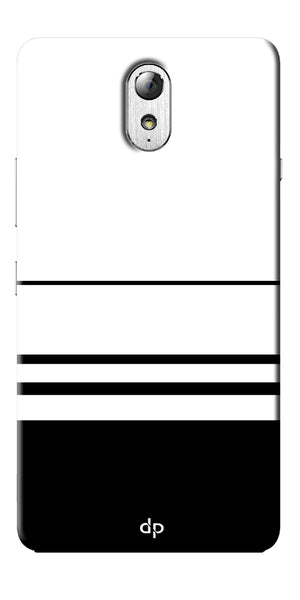 Digiprints Black White Beautiful Pattern Printed Back Case Cover For Lenovo Vibe P1m
