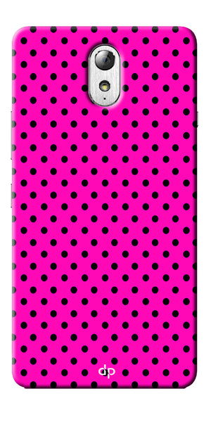 Digiprints Black Dotted Design Pink Printed Back Case Cover For Lenovo Vibe P1m