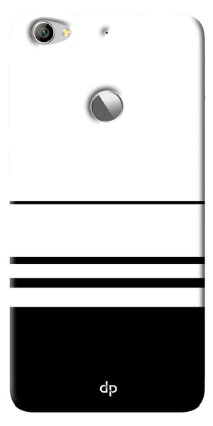 Digiprints Black White Beautiful Pattern Printed Back Case Cover For LeEco Le 1s