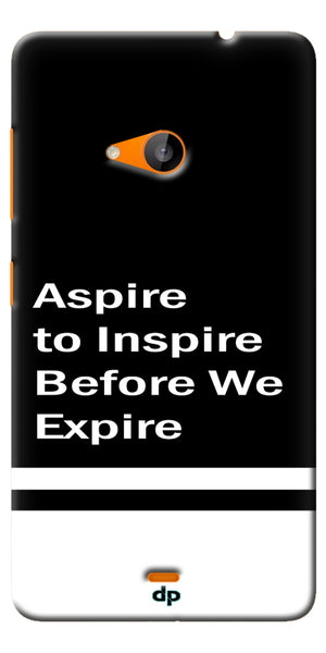 Digiprints Aspire To Inspire Printed Back Case Cover For Microsoft Lumia 535