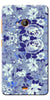 Digiprints Beautiful Blue Flowers Vector Design Back Case Cover For Microsoft Lumia 540
