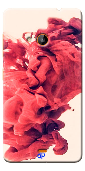 Digiprints Abstract Red Smoke Cloud Printed Designer Back Case Cover For Microsoft Lumia 540