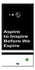 Digiprints Aspire To Inspire Printed Back Case Cover For Microsoft Lumia 730