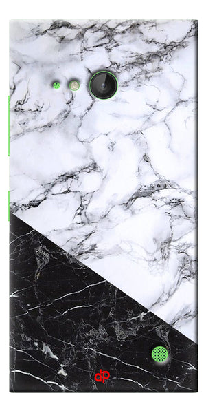 Digiprints  Marble Textured With Black Marbel Artprinted Case Cover For Microsoft Lumia 730