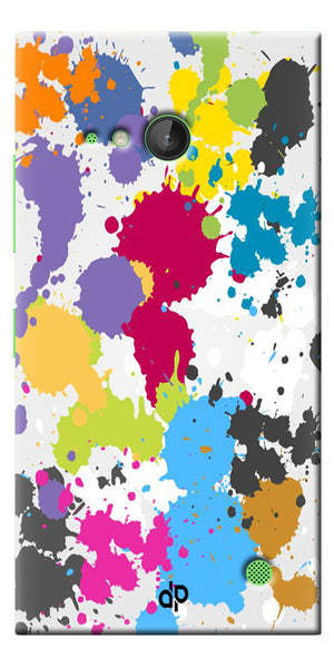 Digiprints  paint slatter Printed Designer Back Case Cover For Microsoft Lumia 730