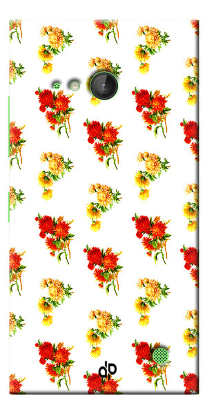 Digiprints flower background Printed Designer Back Case Cover For Microsoft Lumia 730