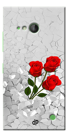 Digiprints Love rose background Printed Designer Back Case Cover For Microsoft Lumia 730