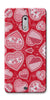 Digiprints Beautiful Pink Heart Design Printed Back Case Cover For Nokia 6