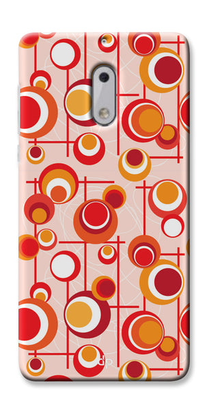 Digiprints Beautiful Geometric Patterns Back Case Cover For Nokia 6