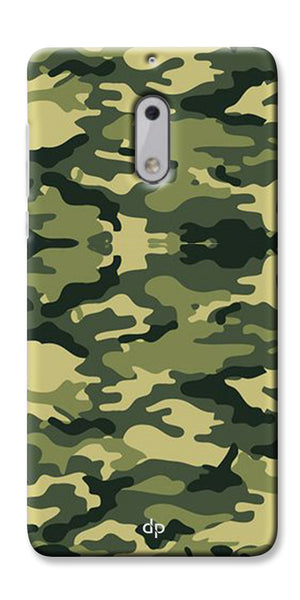 Digiprints Army Pattern Back Case Cover For Nokia 6