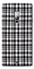 Digiprints Black Checks Printed Designer Back Case Cover For OnePlus 2