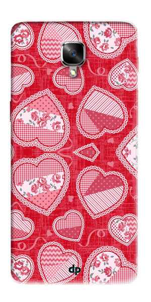 Digiprints Beautiful Pink Heart Design Printed Back Case Cover For OnePlus 3T