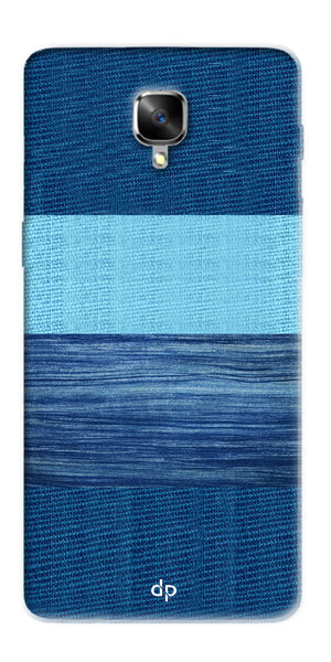 Digiprints Big Blue Denim Pattern Back Case Cover For OnePlus 3