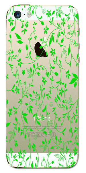 Digiprints Green Leaf Abstract Design Clear Case For Apple iPhone 5