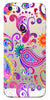 Digiprints Colorful Ethnic Design Clear Case For Apple iPhone 5