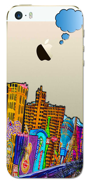 Digiprints High Tech City Design Printed Clear Case For Apple iPhone 5