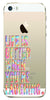 Digiprints Life Is Better When You Are Laughing Printed Clear Case For Apple iPhone 5