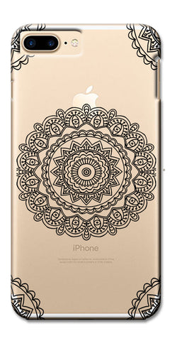 Digiprints Black White Beautiful Pattern Printed Back Case Cover For Apple iPhone 7 Plus