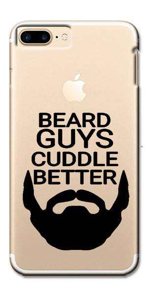 Digiprints Bear Guys Cuddle Better Wuote Clear Case For Apple iPhone 7 Plus
