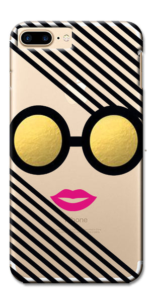 Digiprints Fashion Girl In Sunglassed Clear Case For Apple iPhone 7 Plus