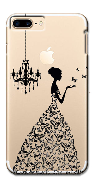 Digiprints Beautiful Lady In Butterfly Gown Design Pattern Digiprints  Case For Apple iPhone 7 Plus