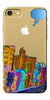 Digiprints High Tech City Design Printed Clear Case For Apple iPhone 7