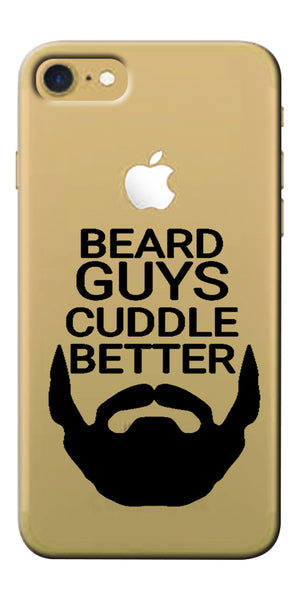 Digiprints Bear Guys Cuddle Better Wuote Clear Case For Apple iPhone 7
