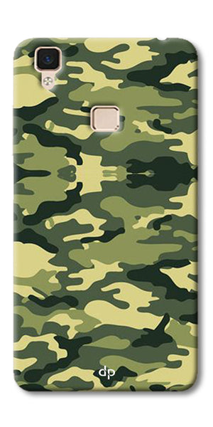 Digiprints Army Pattern Back Case Cover For Vivo V3 Max