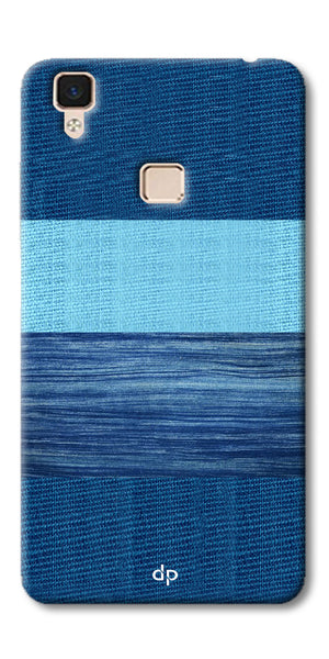 Digiprints Big Blue Denim Pattern Back Case Cover For Vivo V3 Max