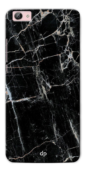 Digiprints Black Marble Design 2 Printed Designer Back Case Cover For Vivo Y66