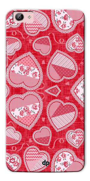Digiprints Beautiful Pink Heart Design Printed Back Case Cover For Vivo V5