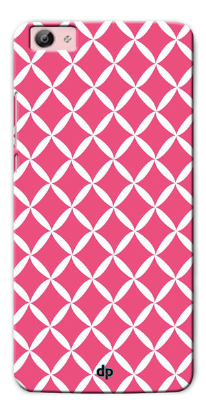 Digiprints Pink Pattern Printed Back Case Cover For Vivo Y55L