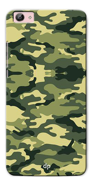 Digiprints Army Pattern Back Case Cover For Vivo Y55L