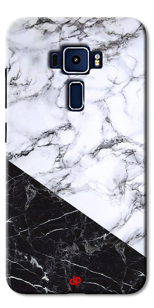 Digiprints  Marble Textured With Black Marbel Artprinted Case Cover For Asus Zenfone 3 Laser ZC551KL
