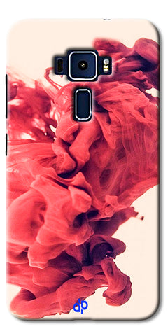 Digiprints Abstract Red Smoke Cloud Printed Designer Back Case Cover For Asus Zenfone 3 Laser ZC551KL