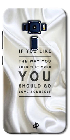 Digiprints Love Yourself Quotes Printed Designer Back Case Cover For Asus Zenfone 3 Laser ZC551KL