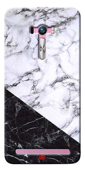 Digiprints  Marble Textured With Black Marbel Artprinted Case Cover For Asus Zenfone Selfie ZD551KL