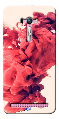 Digiprints Abstract Red Smoke Cloud Printed Designer Back Case Cover For Asus Zenfone Selfie ZD551KL