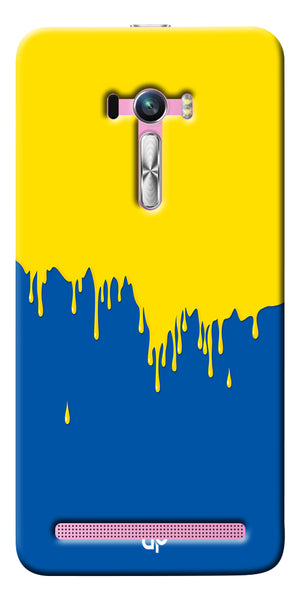 Digiprints dripping paint Printed Designer Back Case Cover For Asus Zenfone Selfie ZD551KL