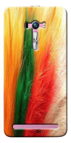 Digiprints colorful feathers design Printed Designer Back Case Cover For Asus Zenfone Selfie ZD551KL