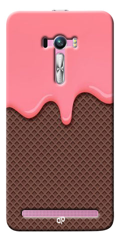 Digiprints Pink Melting Ice Cream Printed Designer Back Case Cover For Asus Zenfone Selfie ZD551KL