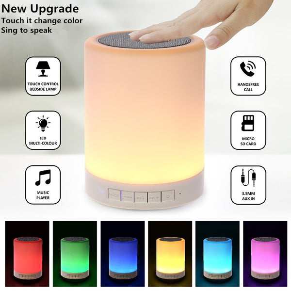 Touch Lamp Portable Bluetooth Speaker with FM and TF Card support