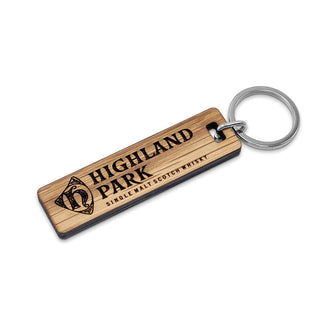 GENUINE CASK WOOD KEYRING
