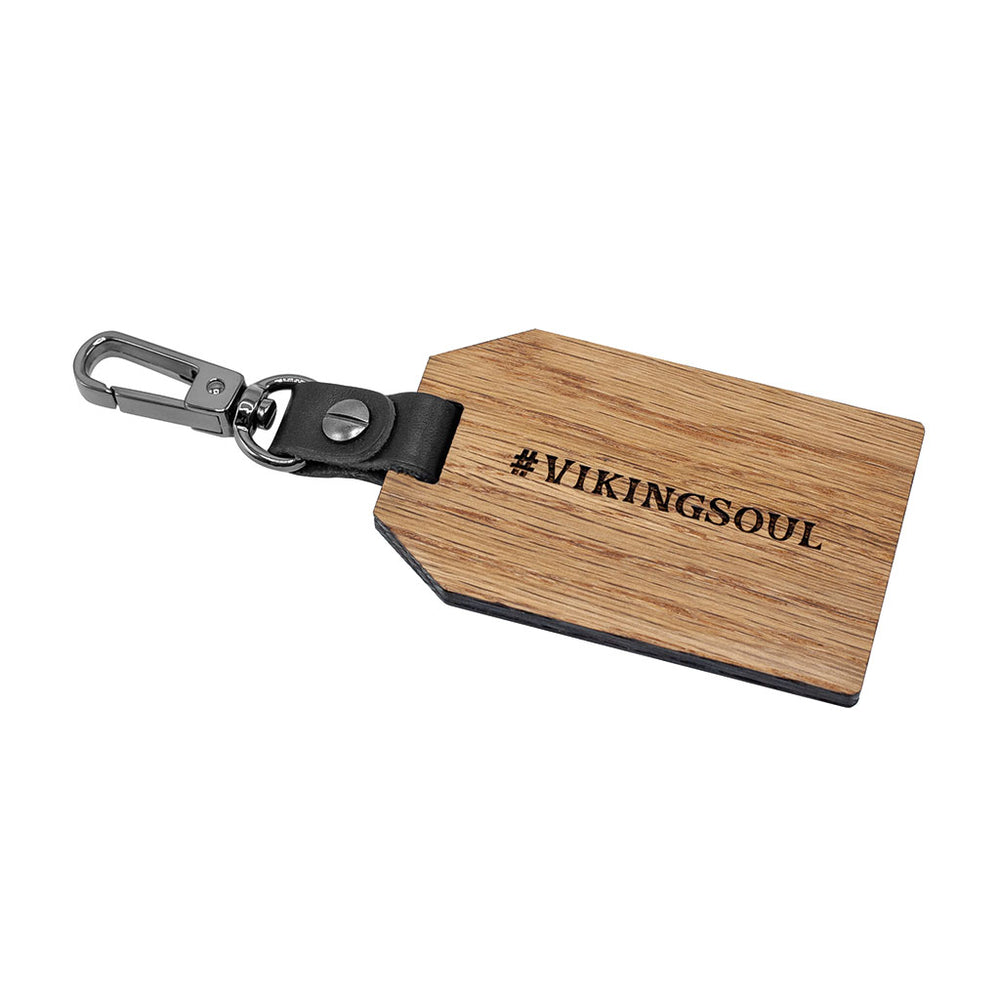 GENUINE CASK WOOD LUGGAGE TAG