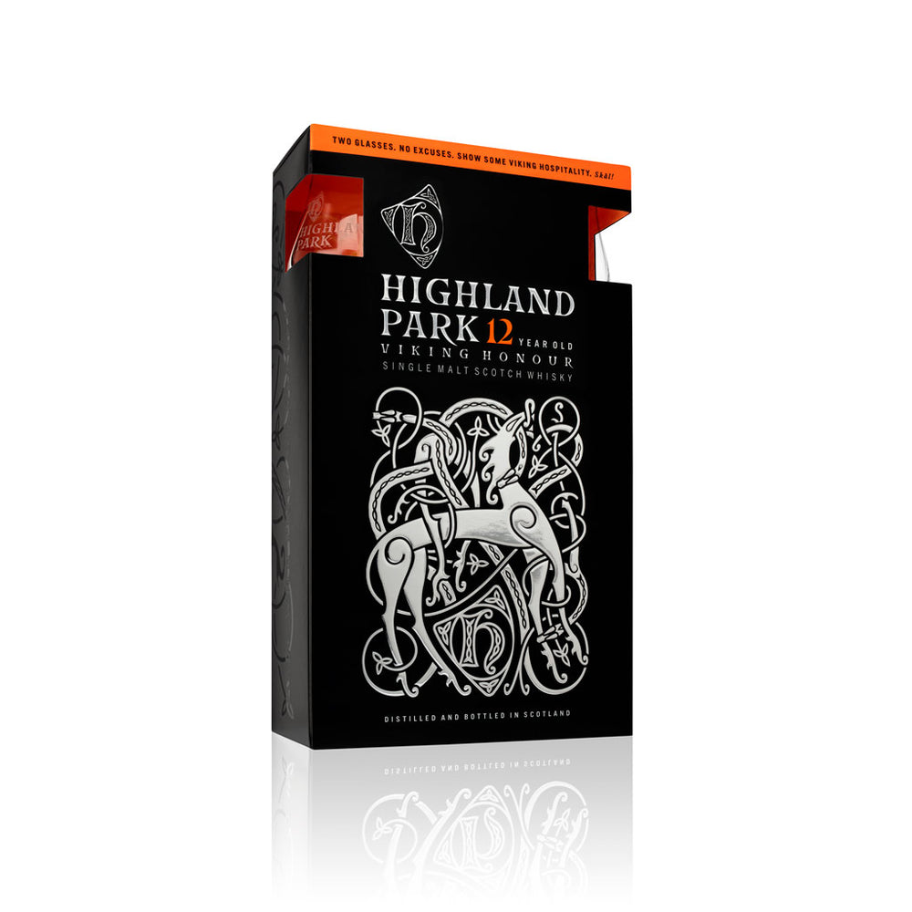 Highland Park Viking Honour 12 Year Old Glass Gift Pack - Single Malt Scotch Whisky